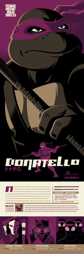 Teenage Mutant Ninja Turtles Donatello Infographic Poster by Tom Whalen