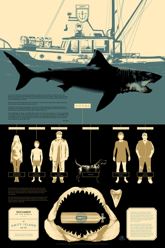 JAWS Victims Infographic Poster by Matt Taylor (Regular)