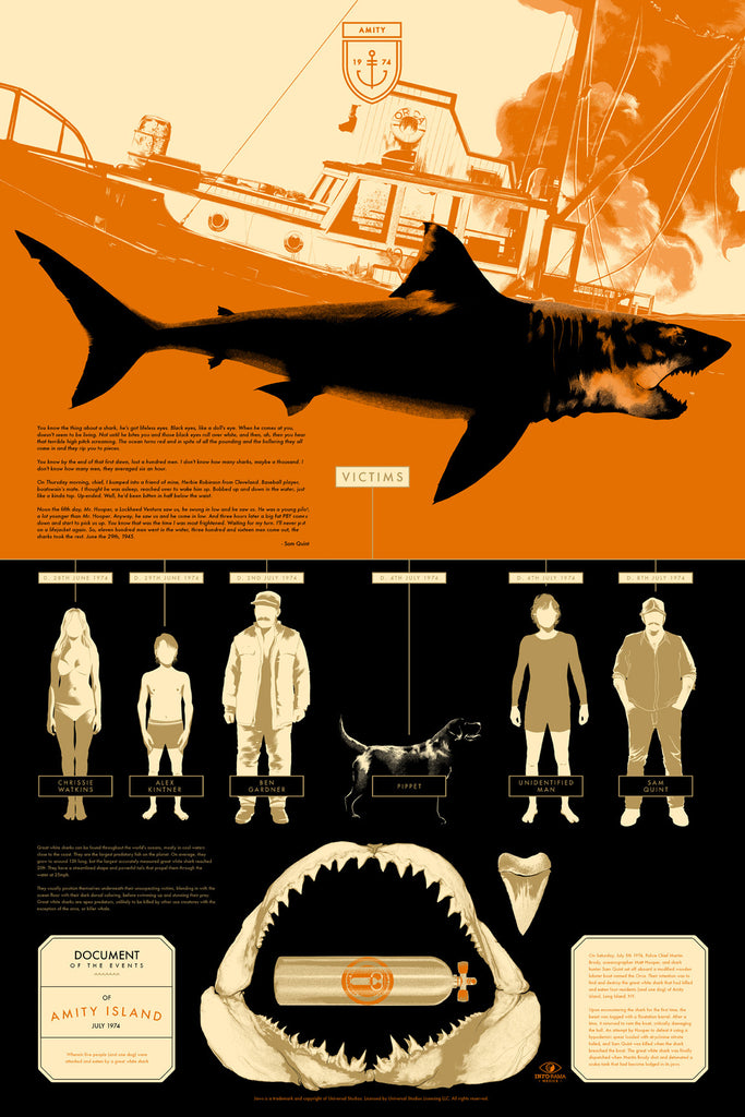 JAWS Victims Infographic Poster by Matt Taylor (Variant)