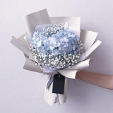 Hydrangeas and baby breath Bouquet (FD083)
