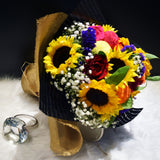 All The Joy Sunflower and Roses Bouquet (FD013)