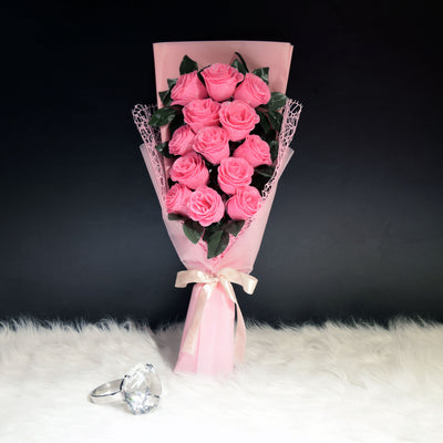 Glittering Roses Sided Bouquet (GRS01C)
