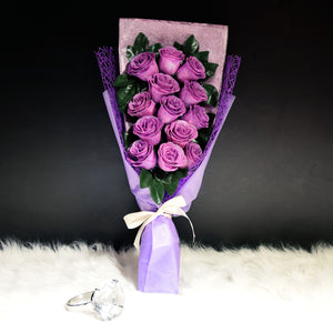 Glittering Roses Sided Bouquet (GRS02C)
