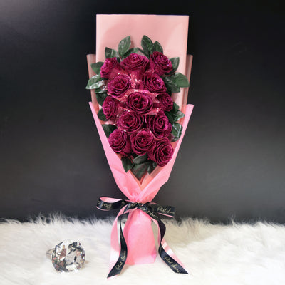 Glittering Roses Sided Bouquet (GRS03C)