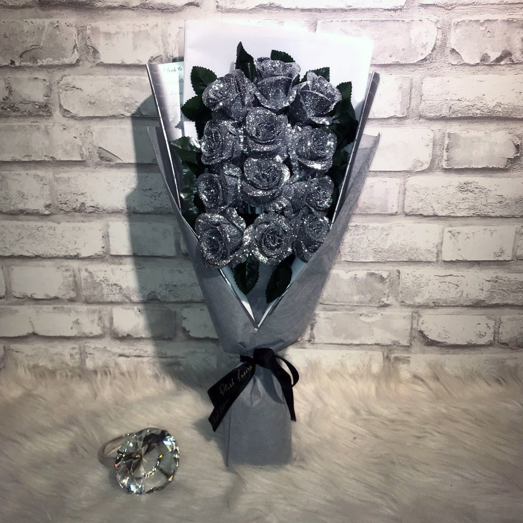 Glittering Roses Sided Bouquet (GRS06C)