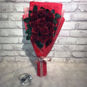 Glittering Roses Sided Bouquet (GRS08C)