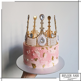 Pink Lady Gold Crown Cake