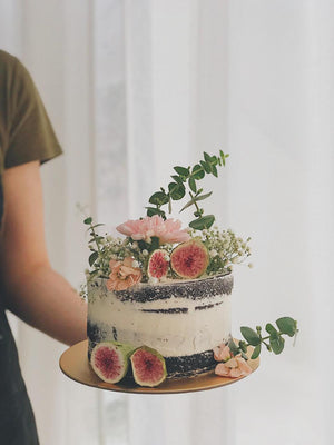 Rustic Fig Botanical Cake
