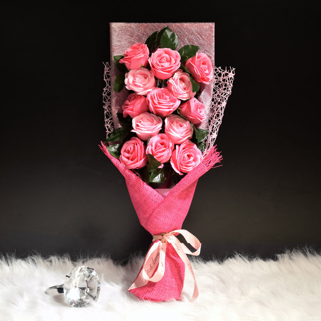 Soap Roses Sided Bouquet (SRS01C)