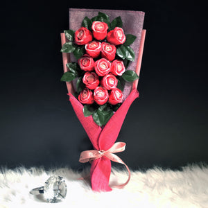 Soap Roses Sided Bouquet (SRS03C)