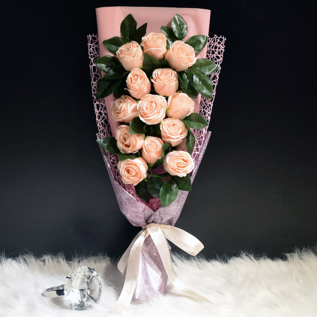 Soap Roses Sided Bouquet (SRS04C)
