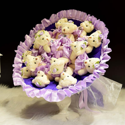 Bear Round Bouquet (BER03)