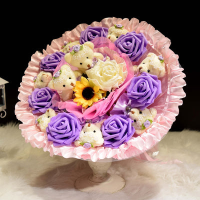 Bear Round Bouquet (BER02)