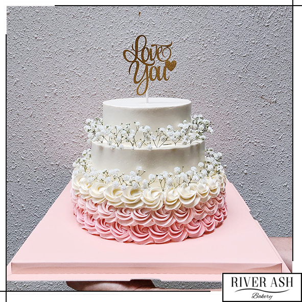 2 Tier and 3 Tier Babybreath Wedding Cake