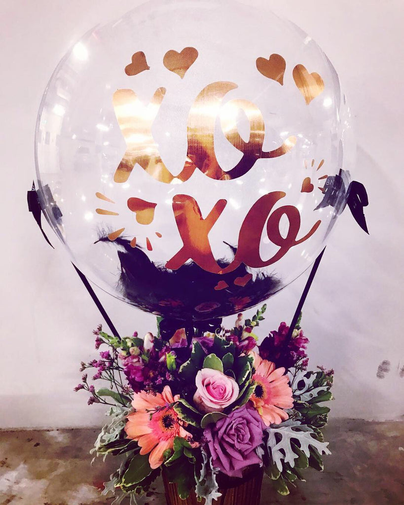 Hot Air Balloon With Flowers (HAB08)