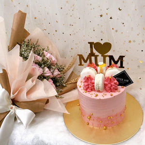 Mother's Day Flowers and Cake (FD