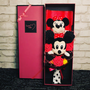 Mickey and Minnie Mouse Box Bouquet