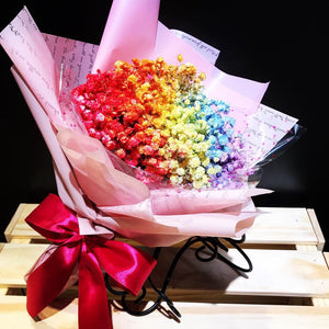 Rainbow Million Tear (FD040) Rainbow Babybreath Bouquet