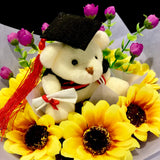 Graduation Bear Bouquet (GB01C)