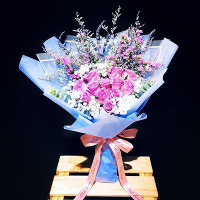 Heart Shape Roses Bouquet (FD073)