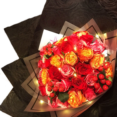 Colourful Kenya Roses Bouquet (FD018)