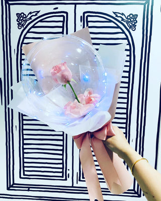 Single Rose Bubble Bouquet Hot Air Balloon  (HAB018)