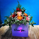 Flowers in Multi Colour LED Box (FDB02)