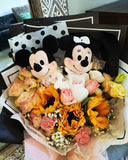 Mickey Mouse With Fresh Flowers Bouquet