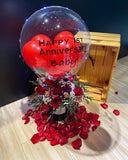 Hot Air Balloon With Flowers & Chocolate Rocher (HAB