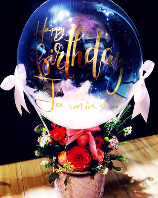Hot Air Balloon With Flowers (HAB05)