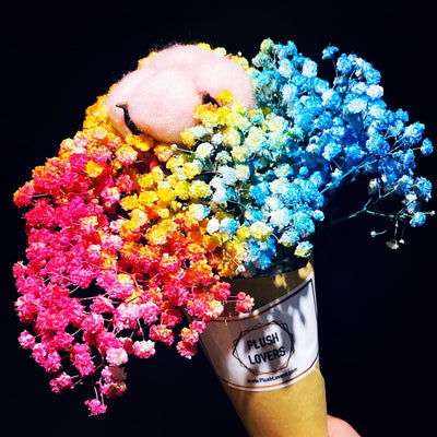 Ice cream cone Rainbow Babybreath Bouquet (FD