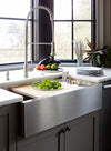 Create Good Sinks stainless steel undermount Apron front farmhouse workstation sink