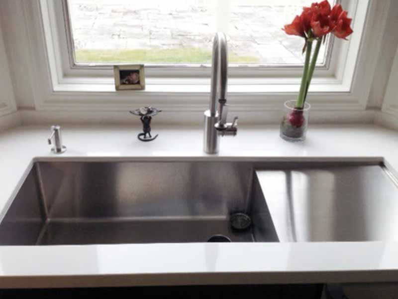 30 Inch Drainboard Sink with No Ledge
