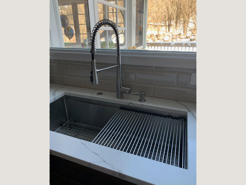 40 Inch Stainless Steel Ledge Sink