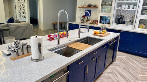"Create Good Sinks 5 foot (56"") stainless steel workstation sink"