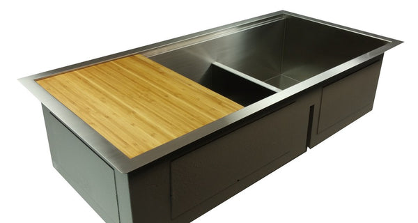 "Zero Radius 39"" Ledge Double Bowl Sink  (0LD39)"