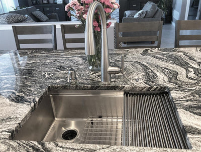 "28"" Ledge Sink - 8"" Depth - Single Bowl - Offset Drain Left (5LS28L-8)"
