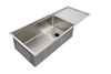 "27"" single bowl ledge sink with drainboard"