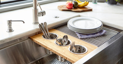3 cup utensil holder board