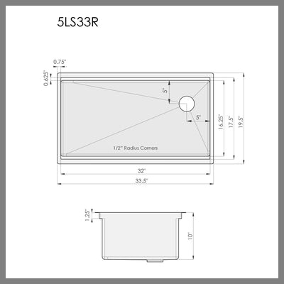 33-inch-ledge-sink-offset-drain-right-dimensions-5LS33R