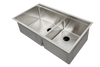 5LD34L stainless steel double bowl ledge sink