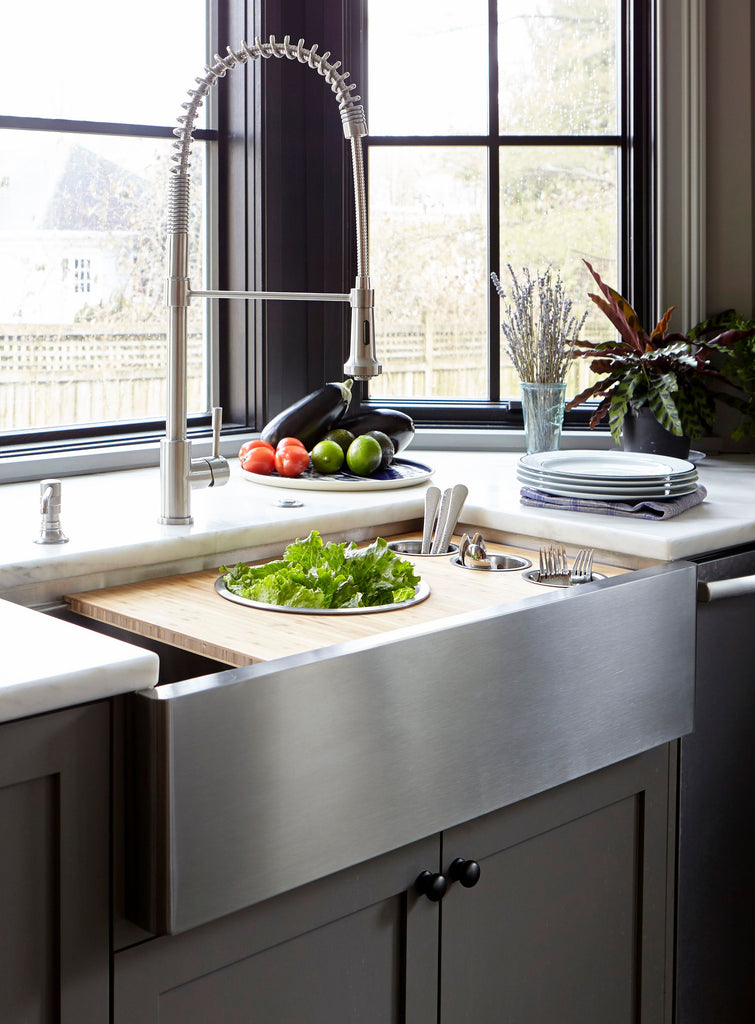 "37"" apron front ledge sink"