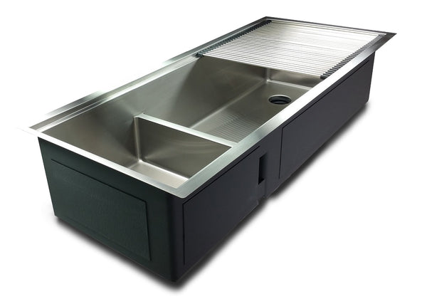 "1/2"" Radius 46"" Ledge Double Bowl Sink"