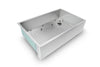 stainless steel apron front kitchen sink with grid
