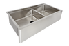 "36"" apron front ledge sink double bowl"
