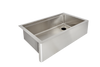 "33"" apron front ledge sink"
