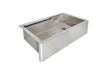"33"" stainless steel farmhouse ledge sink"