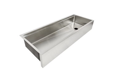 "50"" single bowl apron front ledge sink"