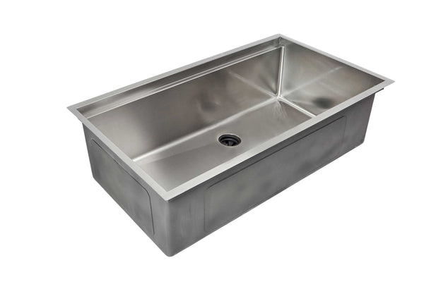"33"" Ledge Sink - Single Bowl - Center Drain - 8"" Depth (5LS33-8)"