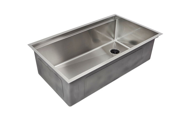 "33"" Ledge Sink - Single Bowl - Offset Drain Right (5LS33R)"